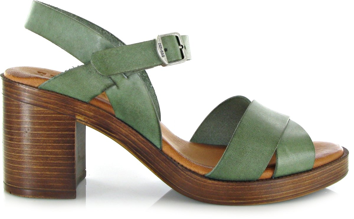 RED-RAG Dames Sandalen 79174 - Groen - Maat 39 kopen