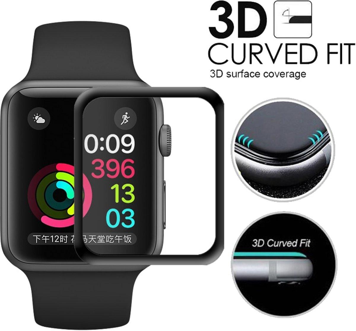 KELERINO. Tempered Glass voor Apple Watch Full Cover 3D - 38mm kopen