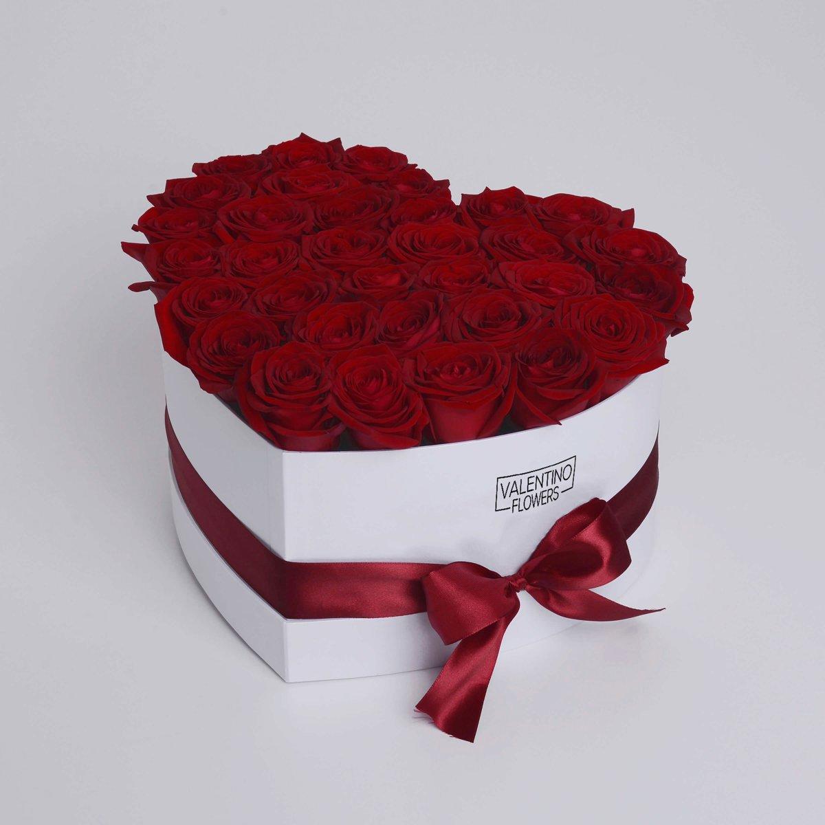 Large Hartvormige Flowerbox Red Naomi kopen