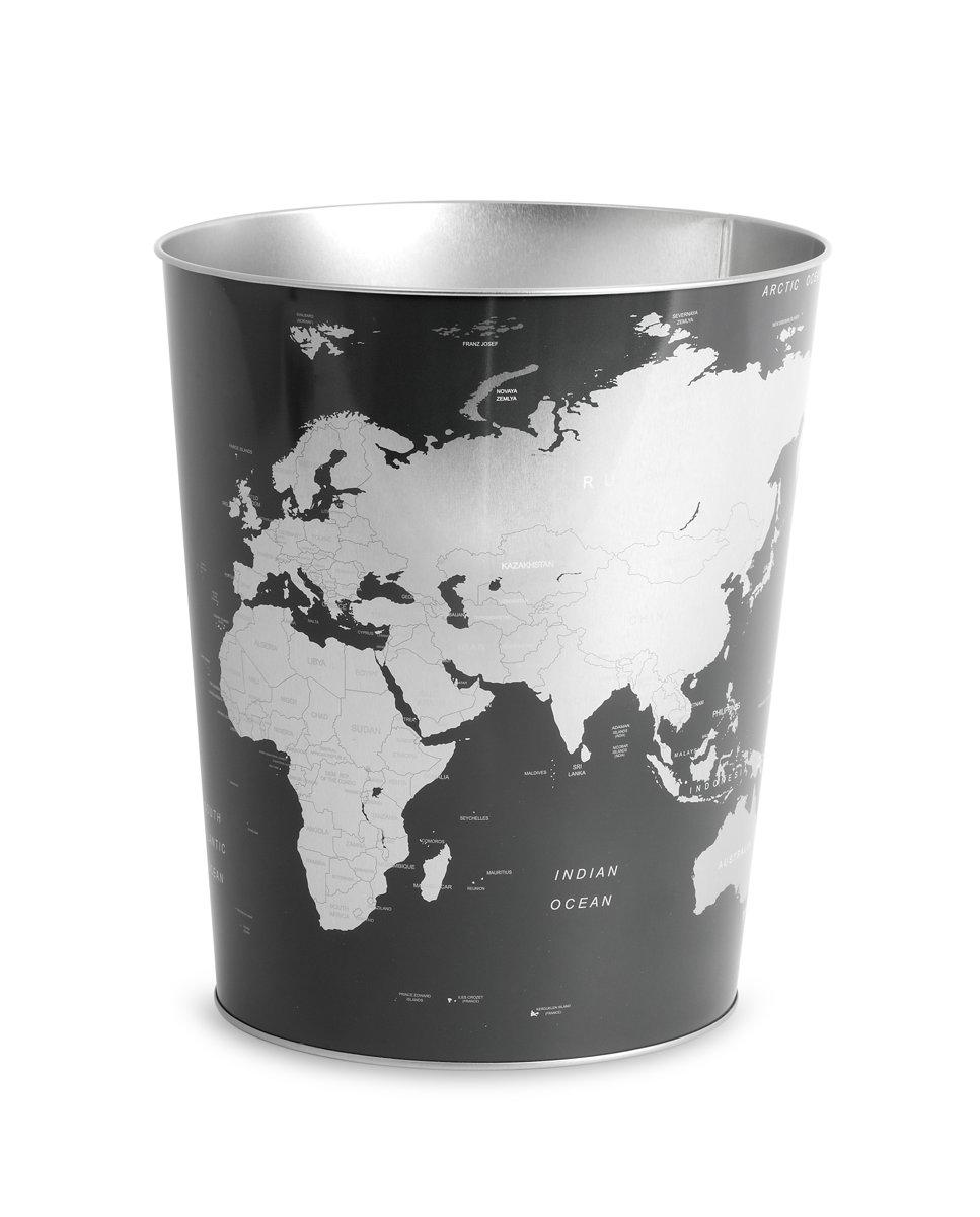 Balvi Prullenbak 3 X 15l.Balvi Globe Prullenbak Tin
