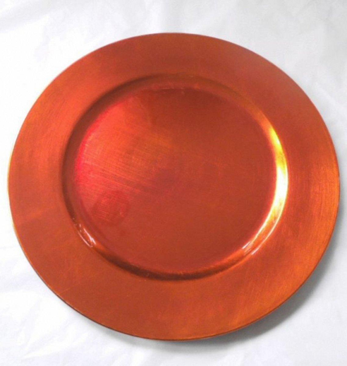 Oranje onderzet bord rond 33 cm kopen