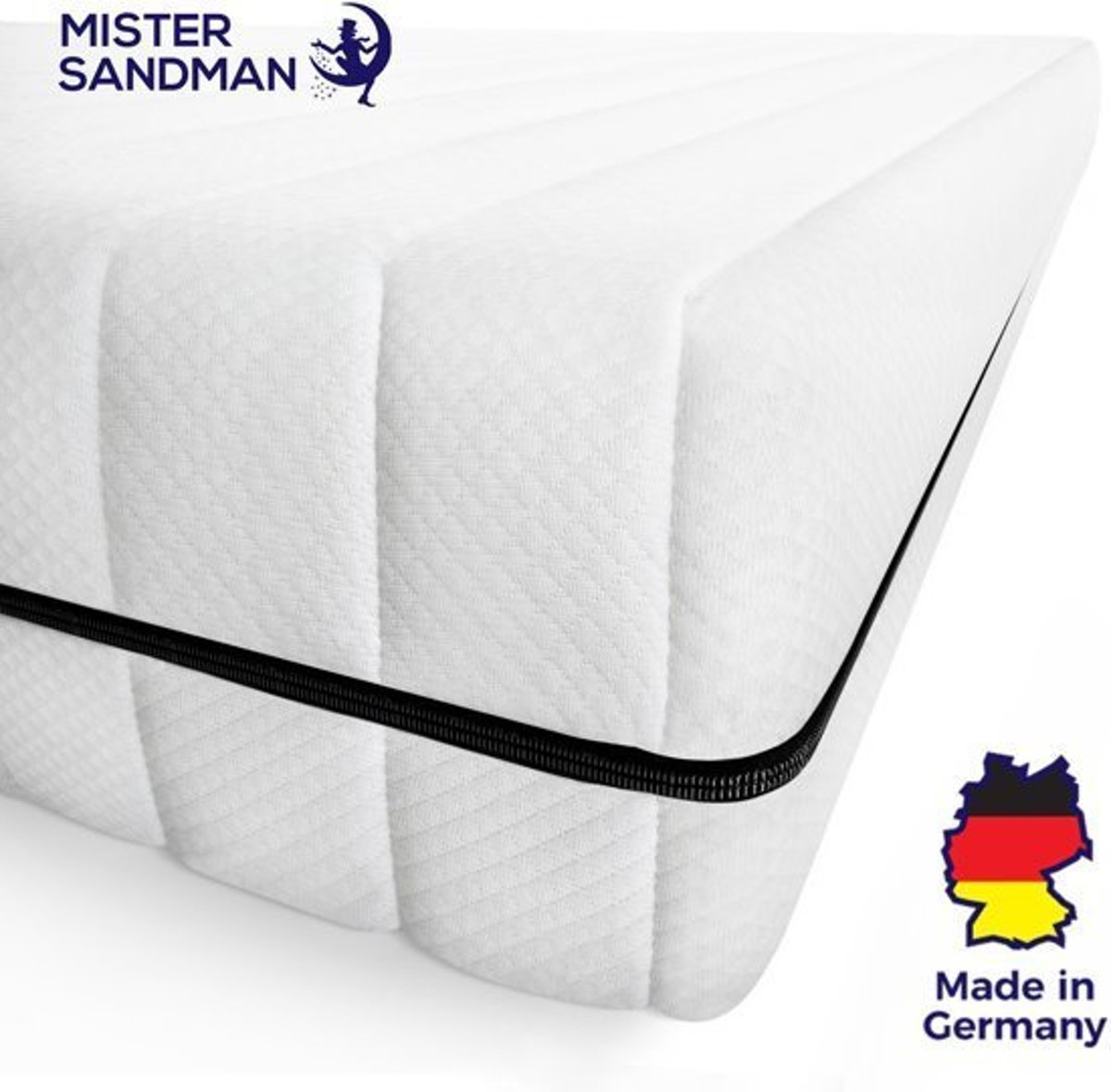 Matras - 80x190 - 7 zones - koudschuim - premium plus tijk - 15 cm - medium & hard