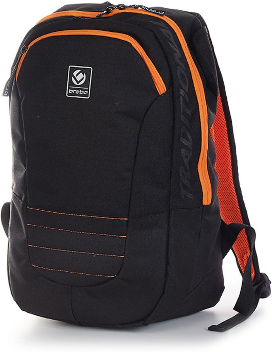 Brabo Hockeystickrugzak - Unisex - zwart/oranje kopen