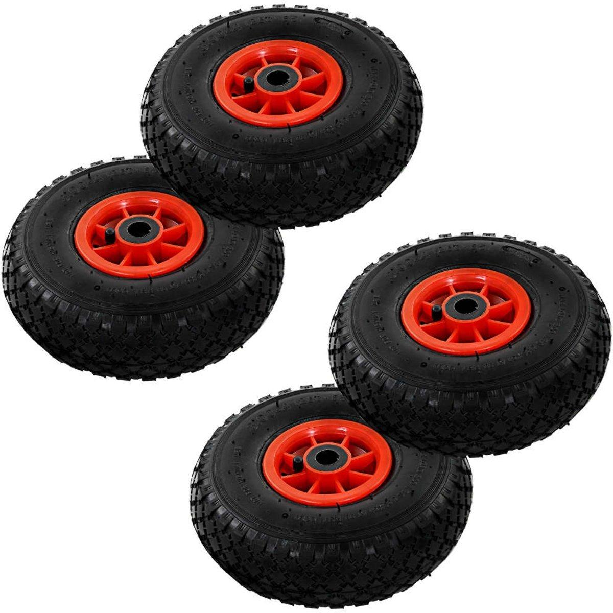 vidaXL Steekwagenwielen 3.00-4 (260x85) rubber 4 st kopen