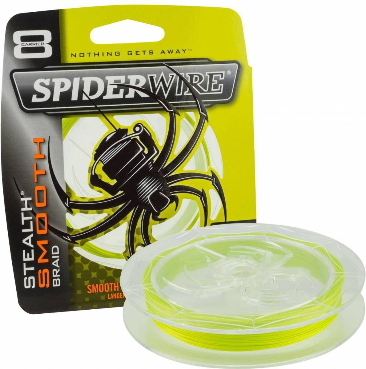 Spiderwire Stealth Smooth 8   Yellow   Dyneema   8lb   0.10mm   150m