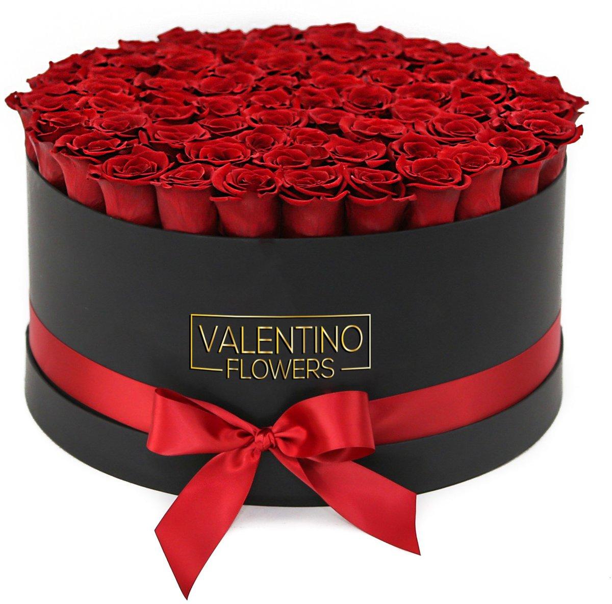 Large Zwarte Ronde FlowerBox Red Naomi kopen