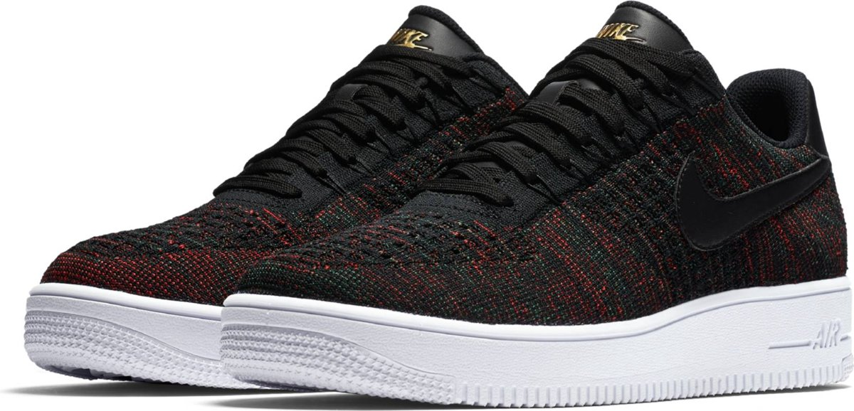 Nike Air Force 1 Ultra Flyknit Low Sneakers Unisex 817419 005 Maat 38,5 Zwart
