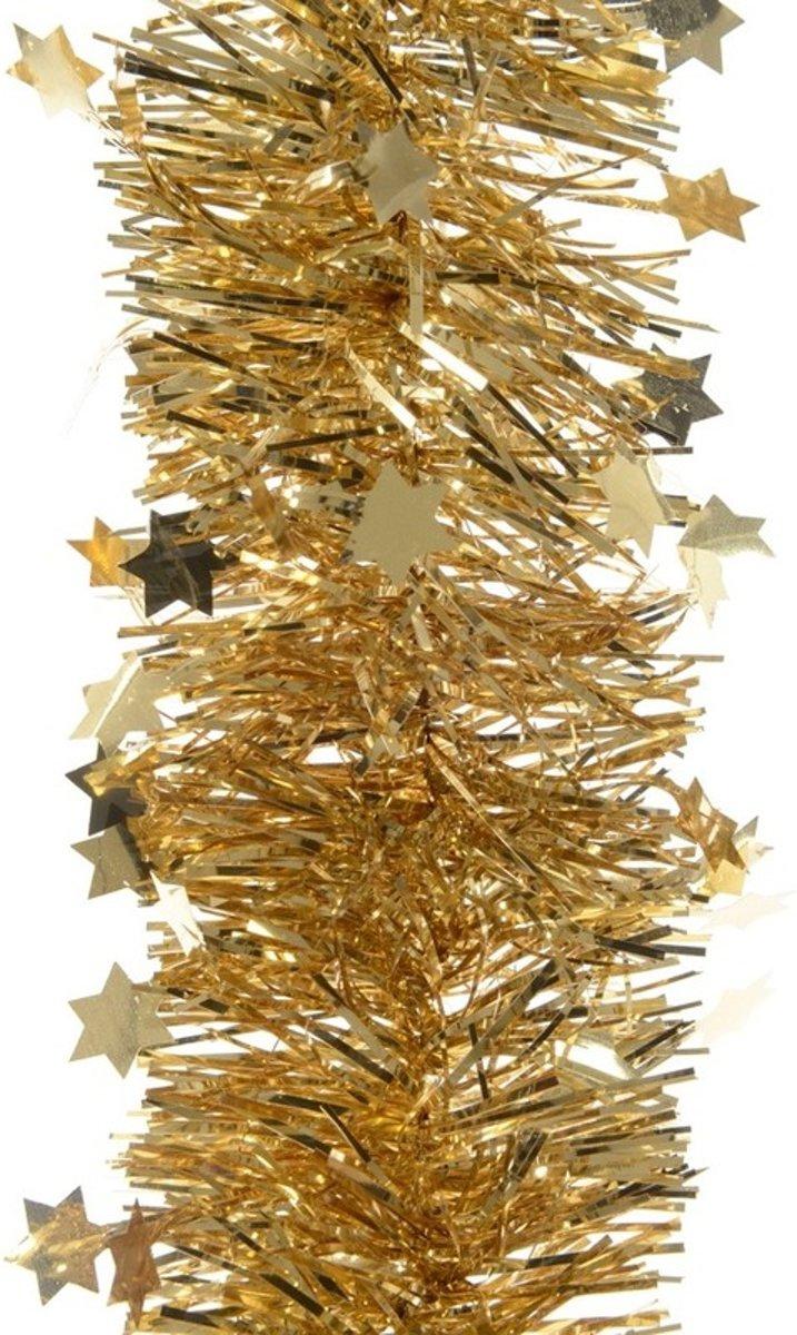Gouden kerstversiering folie slinger met ster 270 cm kopen