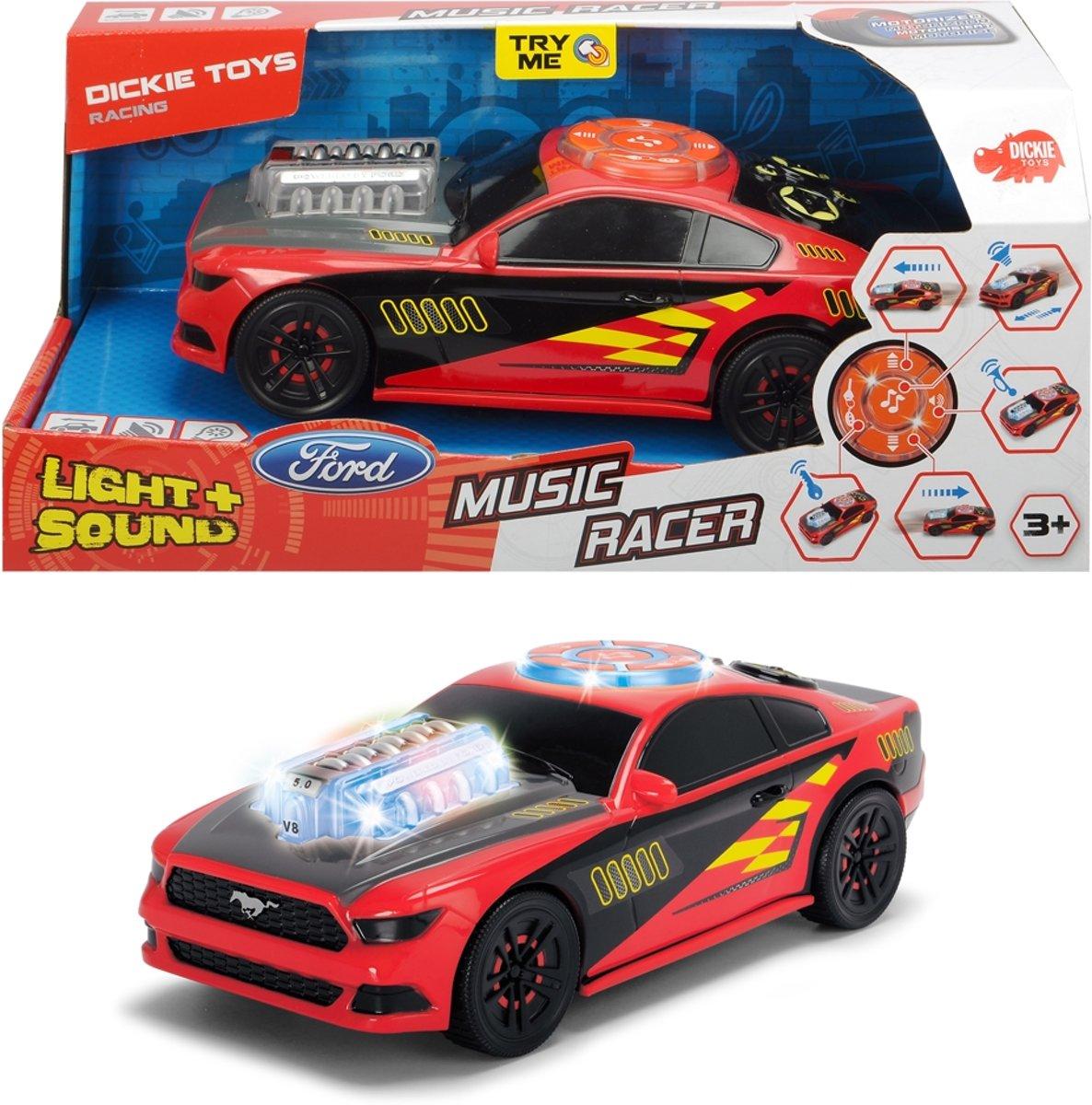 Auto - Music Racer B/O - 23 Cm - Speelgoedvoertuig - Licht en geluid