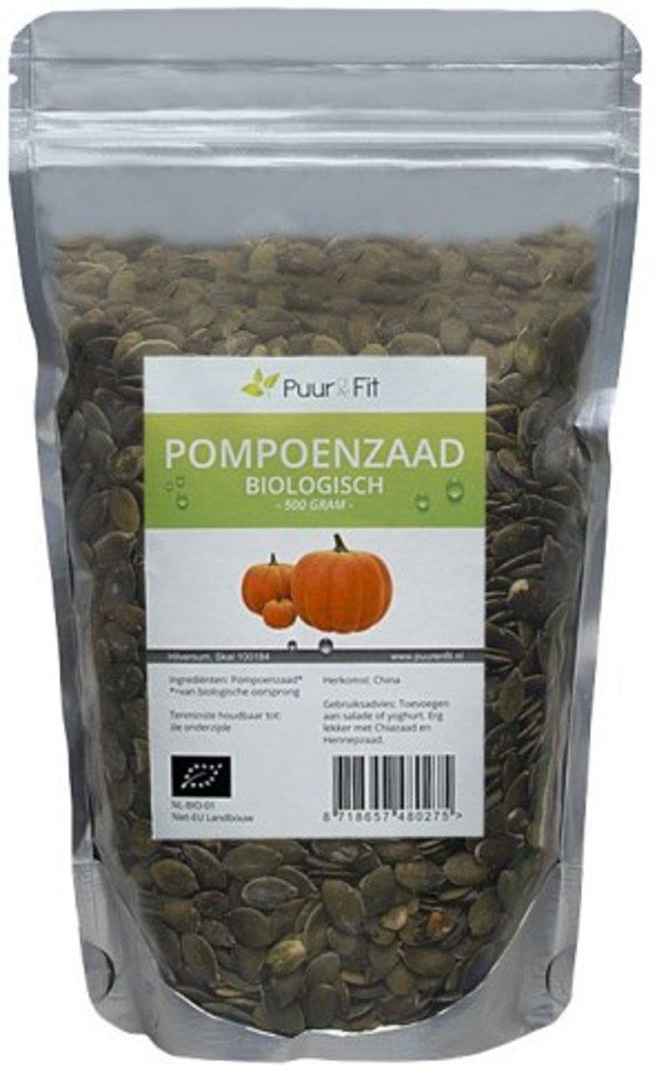Puur&Fit Pompoenpitten Biologisch 500 gr kopen