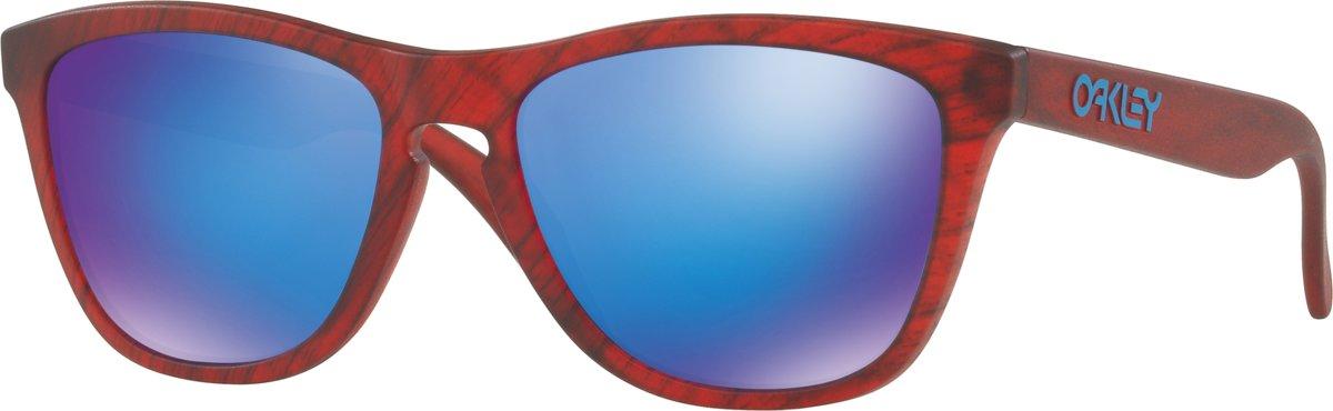Oakley Frogskins - Zonnebril - Matte Red Woodgrain / Sapphire Iridium kopen