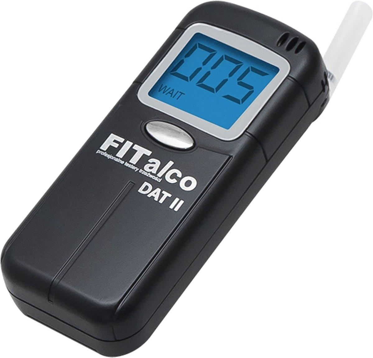 Foto van Digitale Alcohol Tester - Mondstuk en LCD Scherm - Groot bereik - Zwart