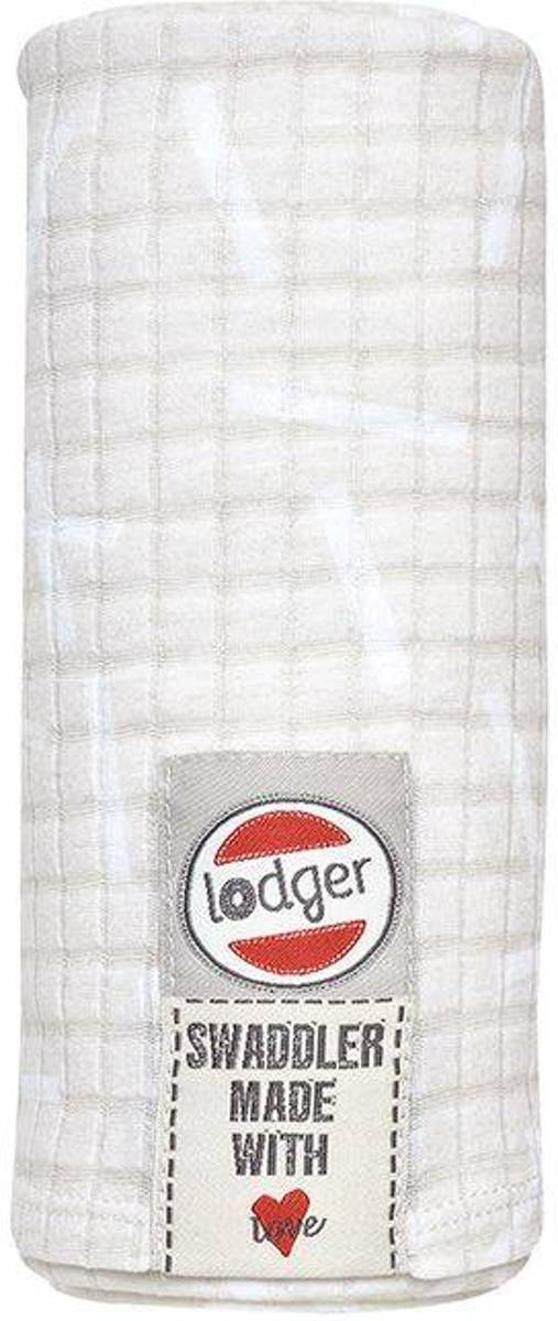 Lodger Hydrofiele doek - Swaddle Scandinavian - Ivoor - 120x120cm