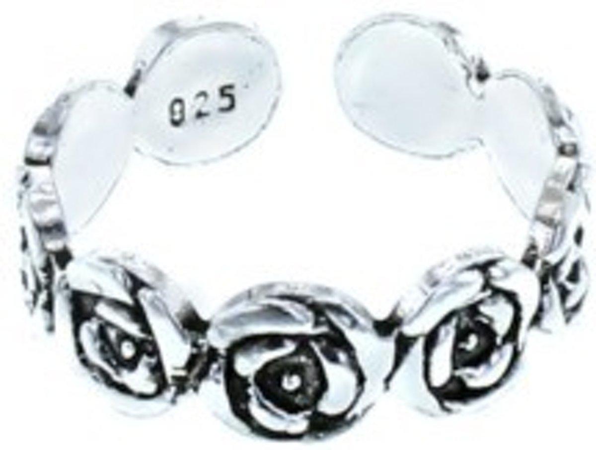 Teenring Roses - 925 zilver kopen