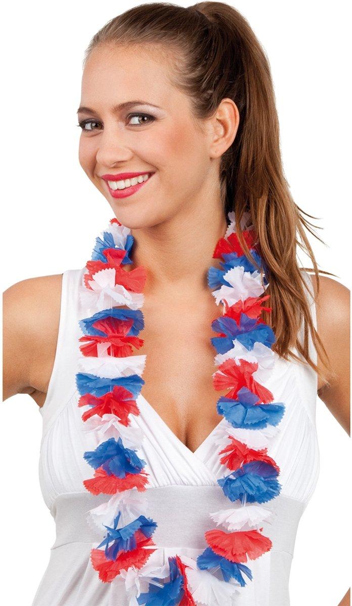 Hawaiikrans Rood-Wit-Blauw