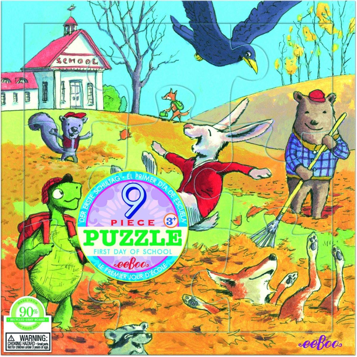 Eeboo Puzzel first day of school 9 stukjes kopen