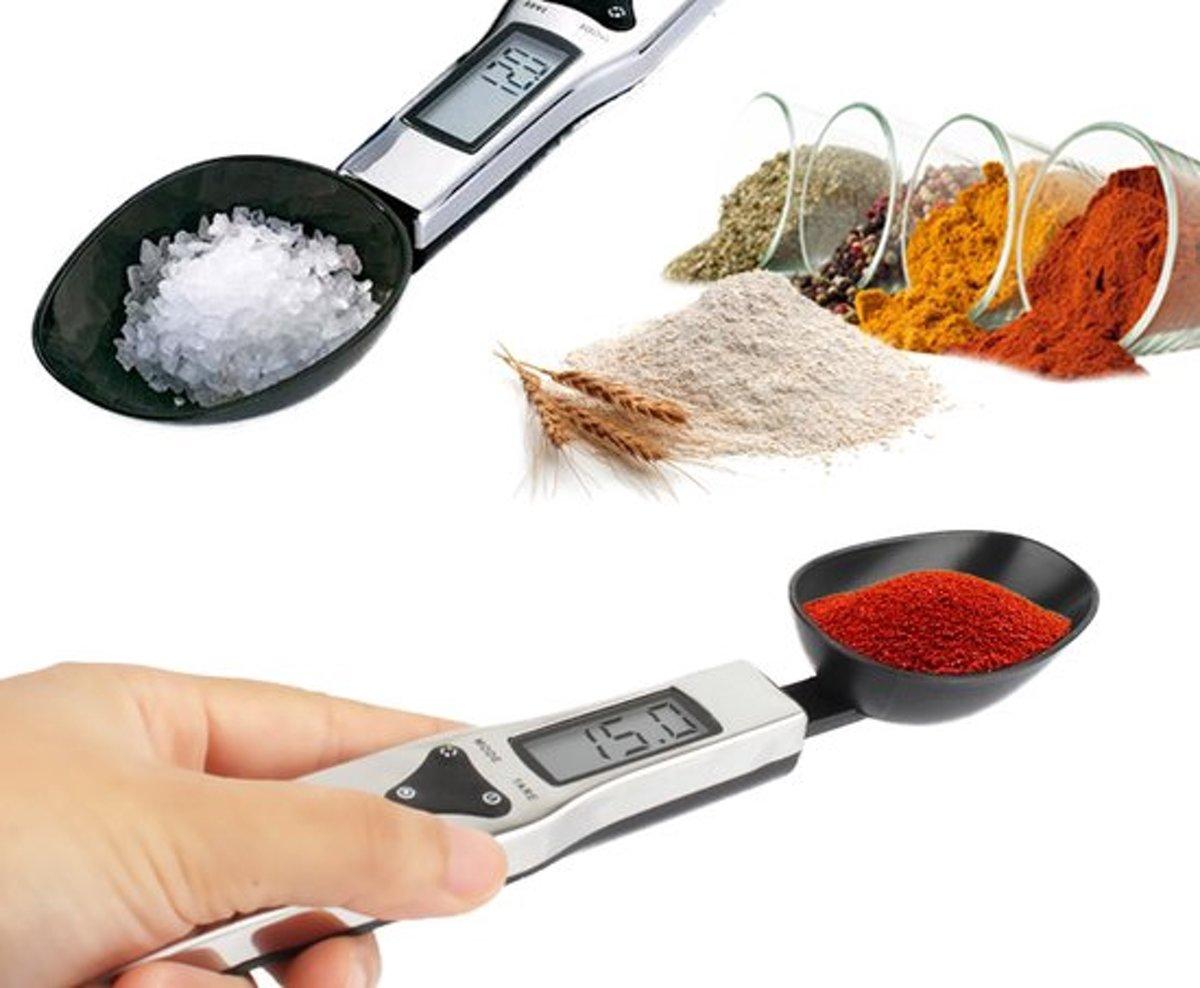 RVS Nauwkeurige Digitale Lepelweegschaal | Digitale Weeglepel tot 500 gram | Keuken Weegschaal Lepel | Precisie Weegschaal | Tot 0,1 gram Nauwkeurig