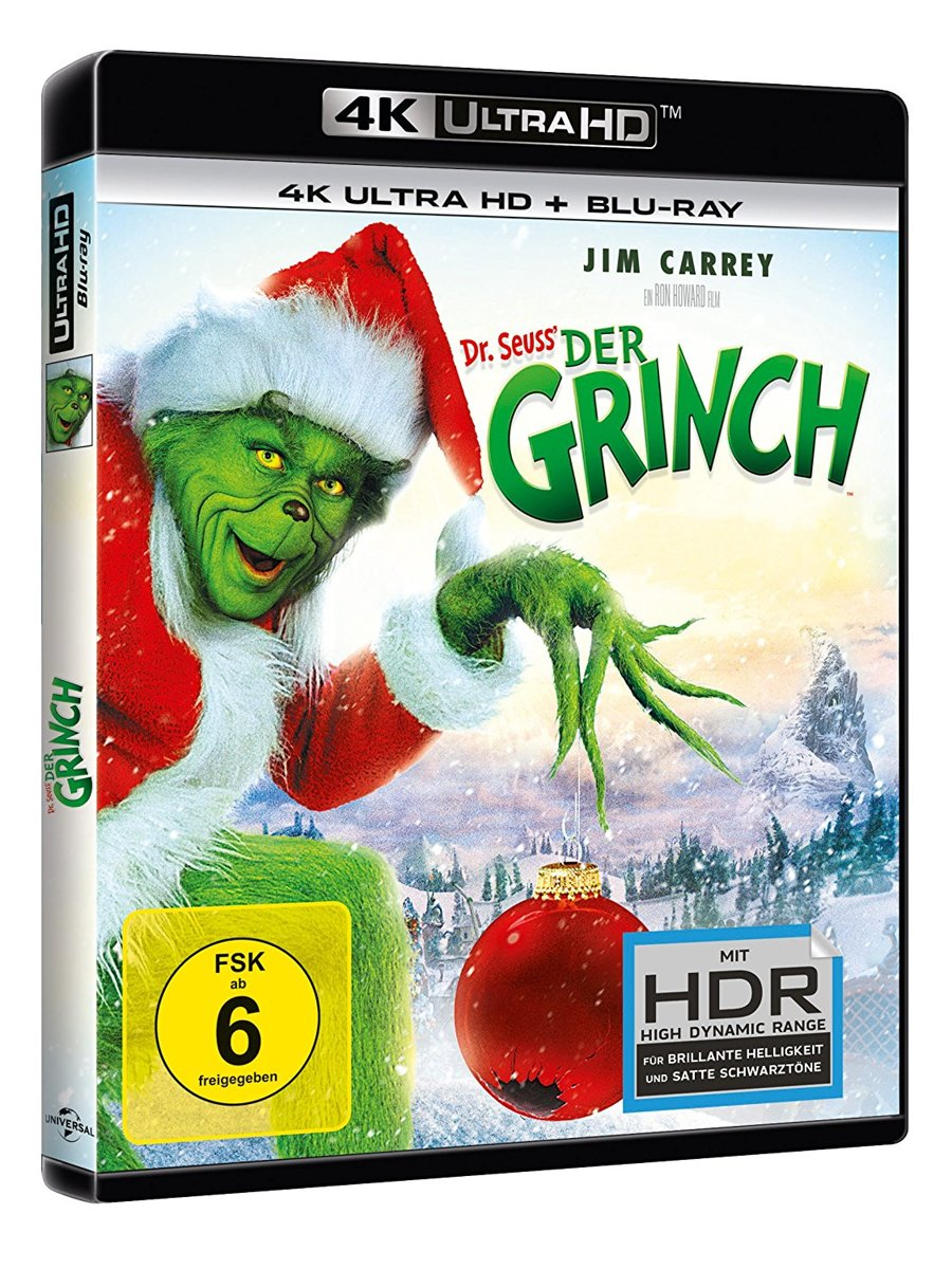 Dr. Seuss' How The Grinch Stole Christmas (2000) (Ultra HD Blu-ray & Blu-Ray)-