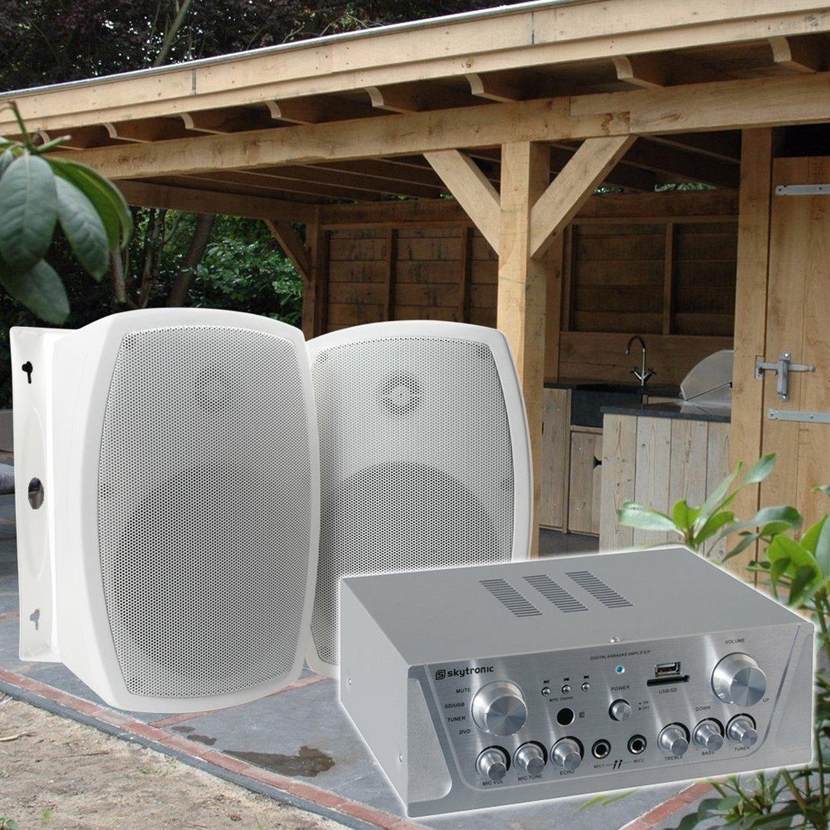 Complete terras of veranda geluidsset met weersbestendige luidsprekers kopen