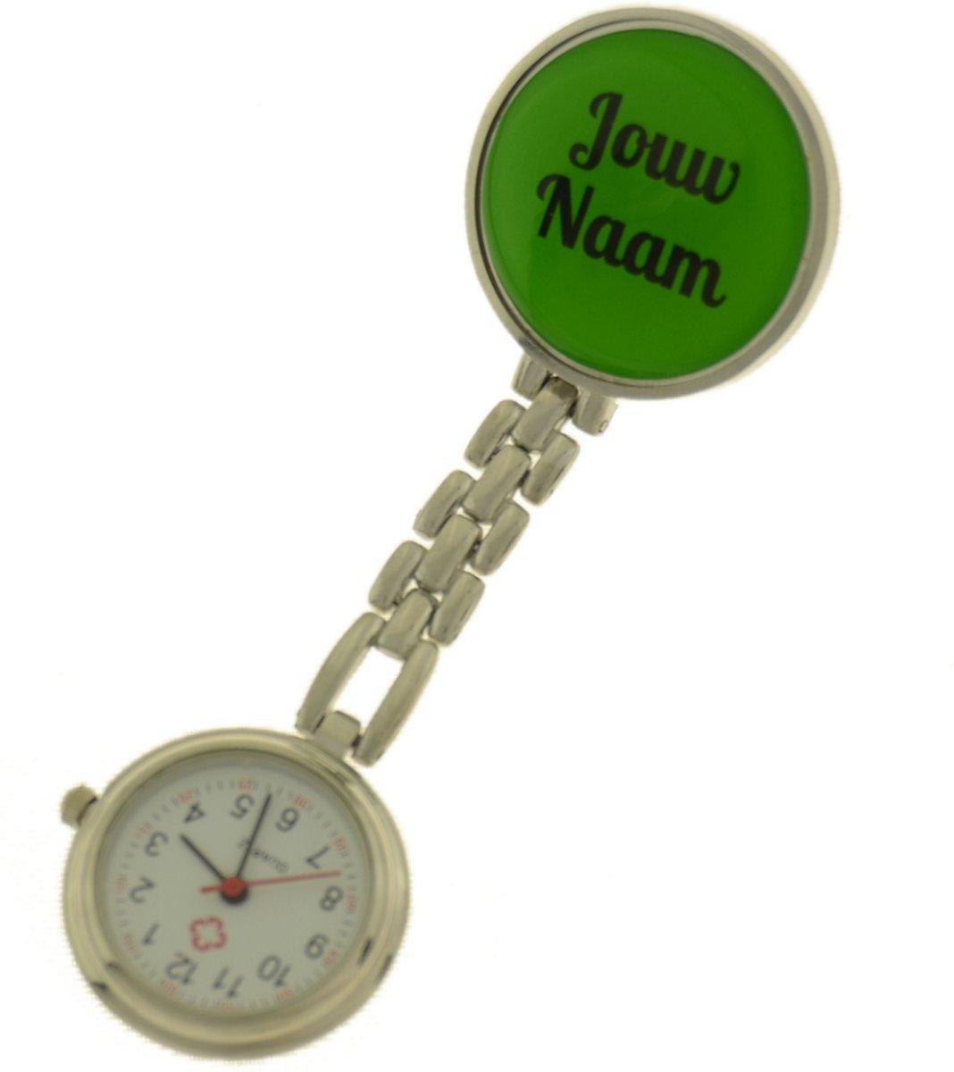Treasure Trove® Gepersonaliseerd Verpleegster Horloge – Zusterhorloge met Naam – Dames – Heren – Groen – 25mm kopen