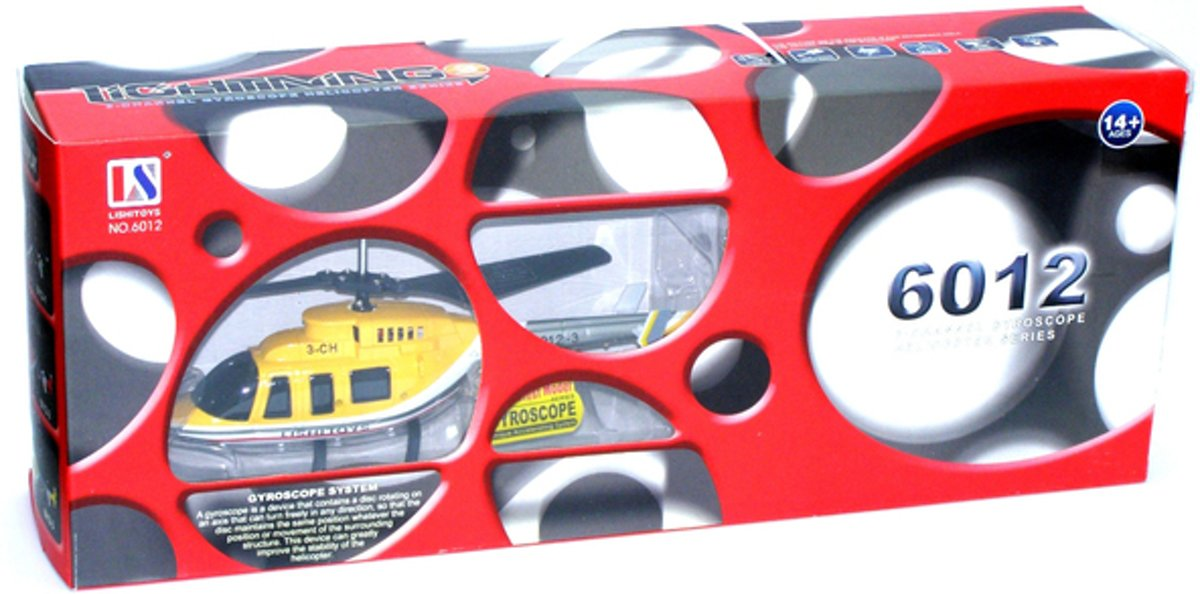 Helicopter - 3 channel gyroscoop - RC - 28 cm