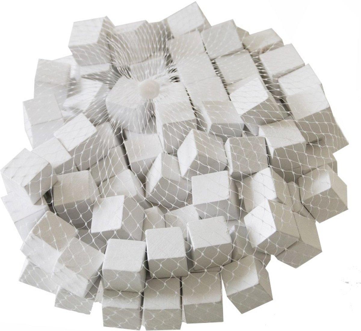 Houten blokjes wit 1,5 cm - set van 400 stuks kopen