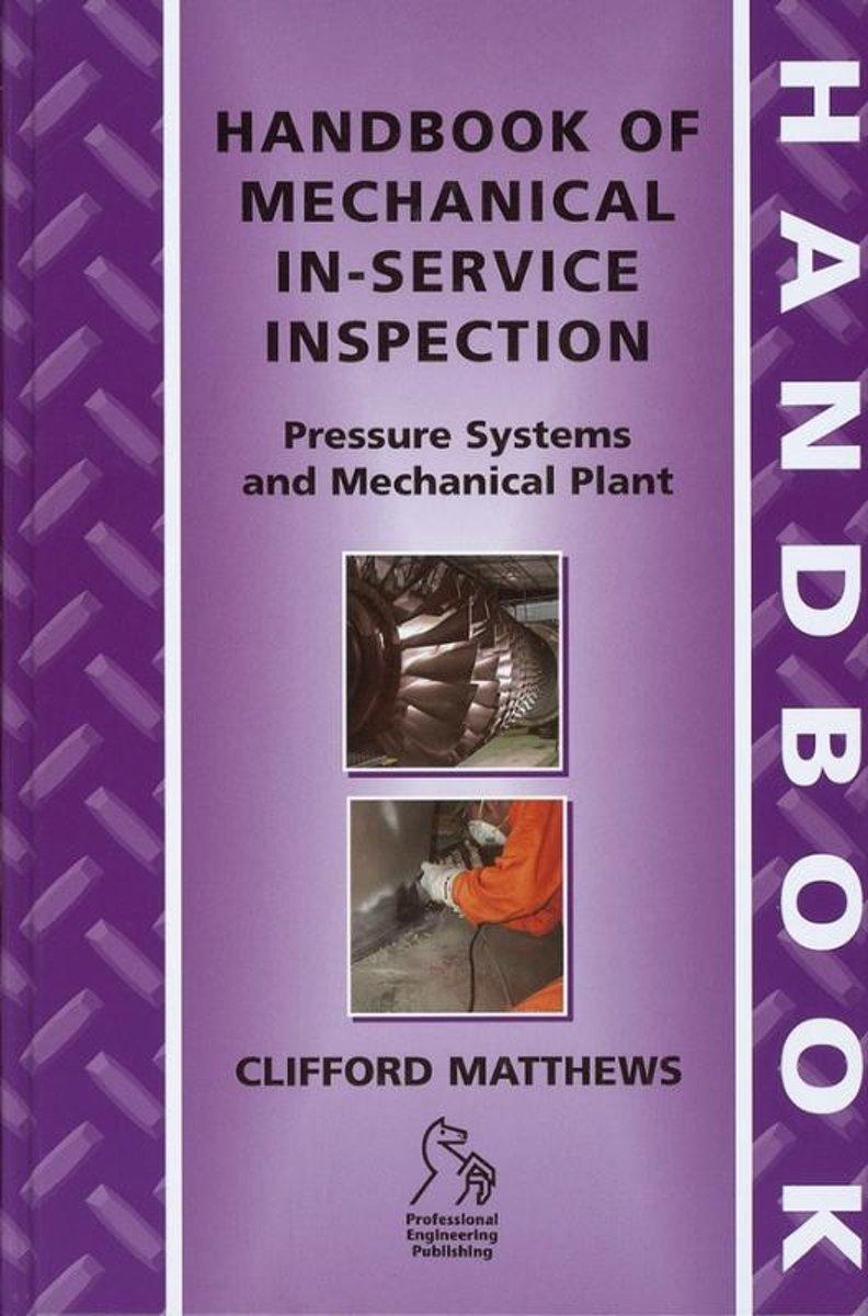 bol.com | Handbook of Mechanical In-Service Inspection, Dr. Clifford  Matthews | 9781860584169 |.