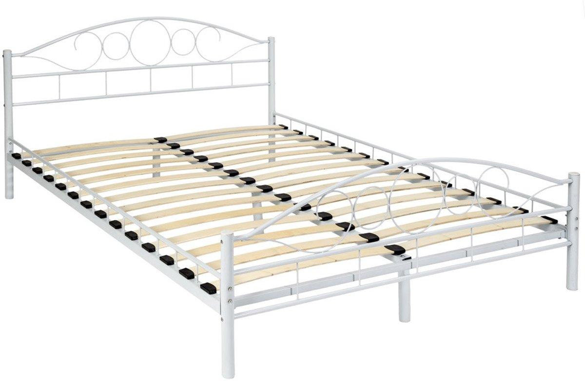 Metalen 2 Persoonsbed.Bol Com Bedframe Metalen Bed Frame Met Lattenbodem 200 140 Cm 401725