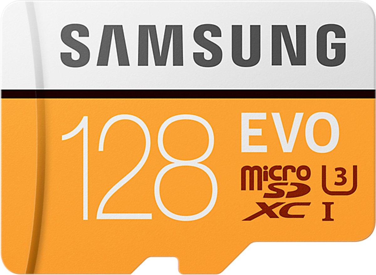 Samsung Evo Micro SD kaart 128GB - met adapter voor €44