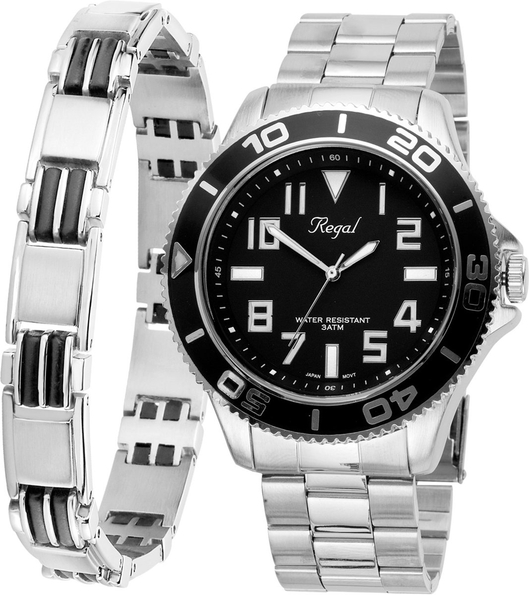 Lucardi R14793-212 Geschenkset - Armband & Regal horloge kopen