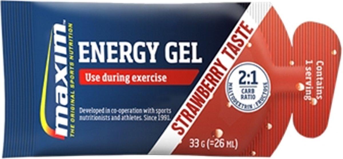 25x Maxim Energy Gel Strawberry 33g kopen