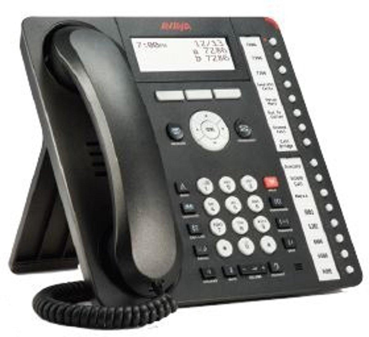 Avaya 1416 16regels Wired handset Zwart kopen