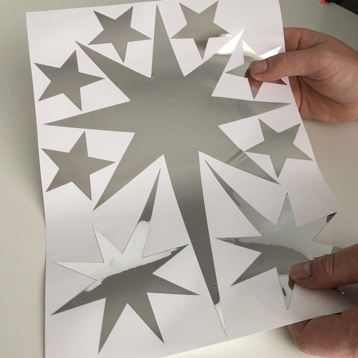 Zilveren sterren stickers herbruikbaar kopen