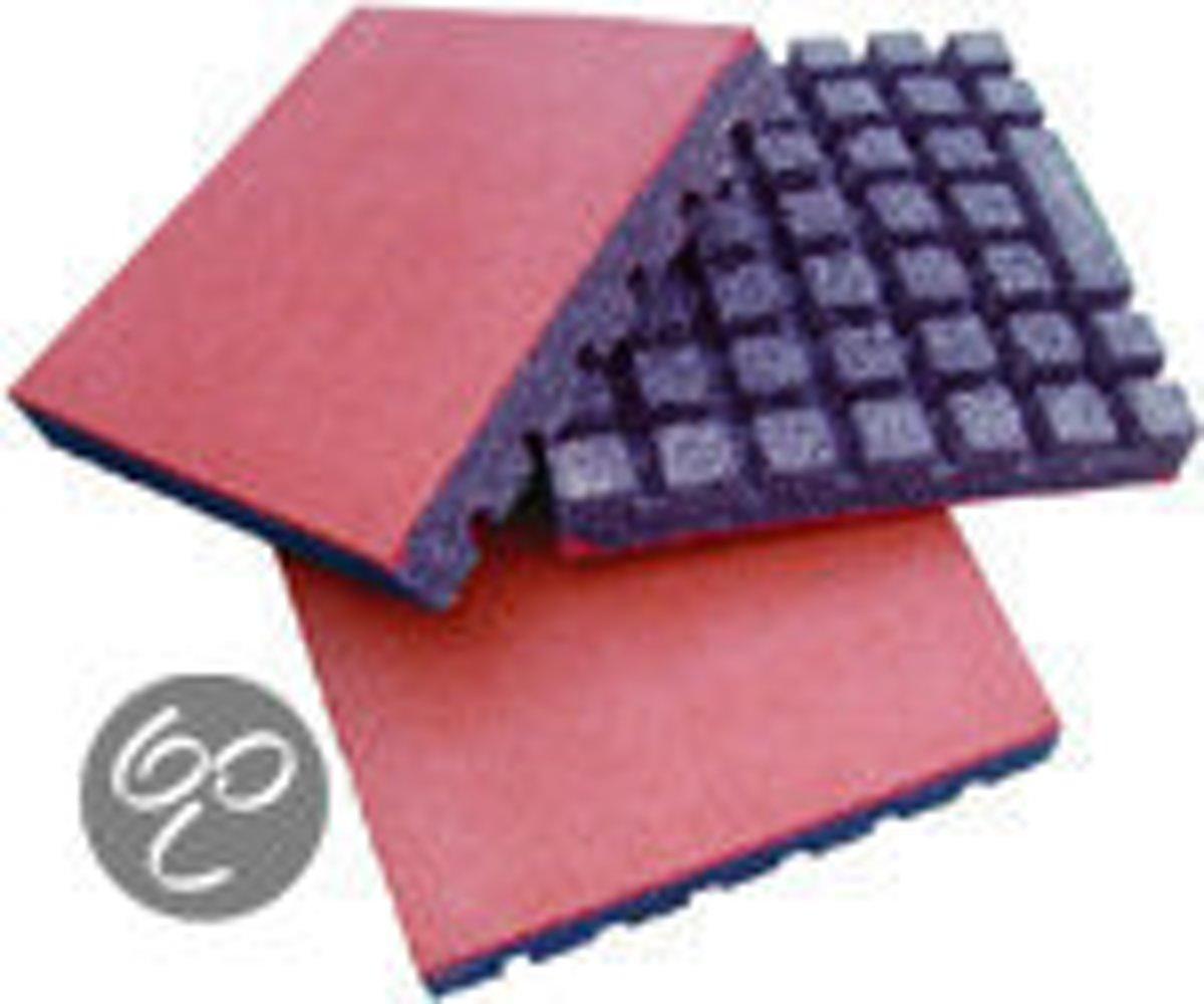 Intergard rubberen tegels rood 500x500x45mm (prijs per m2) kopen