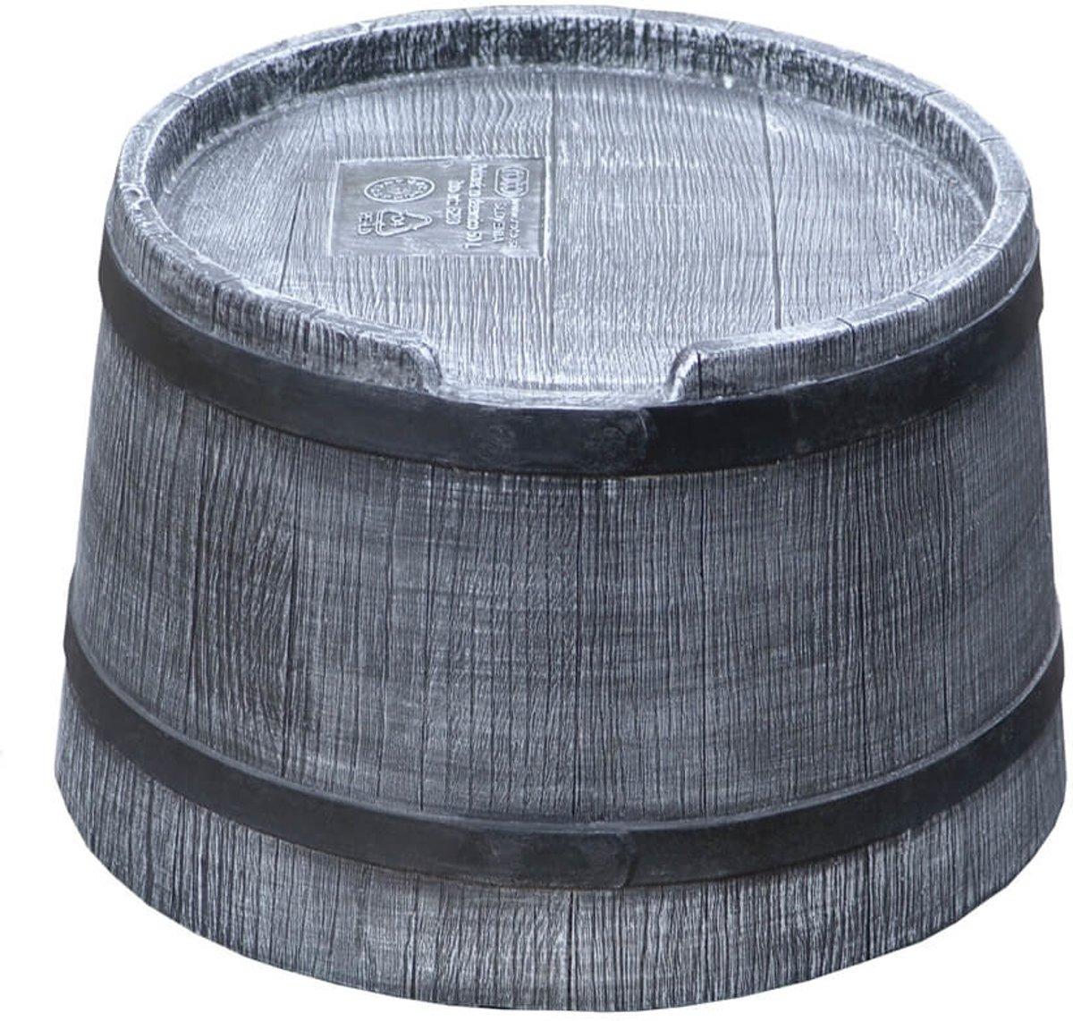 Roto voet voor regenton 50 liter kunststof houtlook grijs kopen