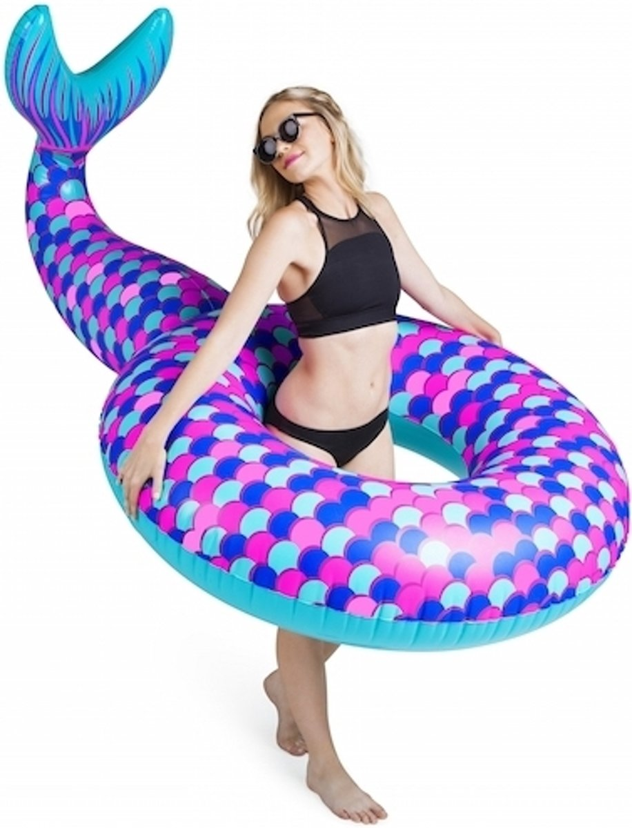 Opblaas zeemeermin zwemband 150 cm