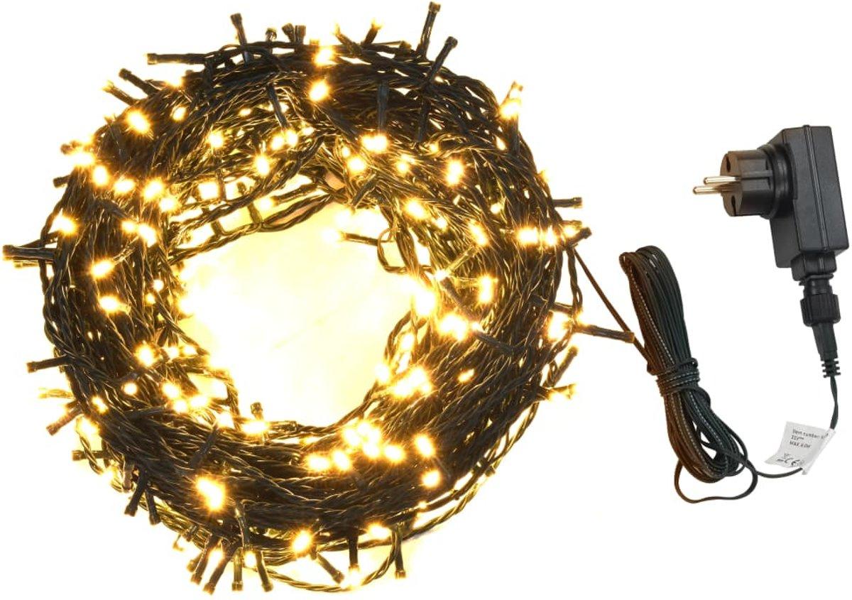 vidaXL Lichtslinger 1000 LED's binnen en buiten IP44 100 m warm wit kopen