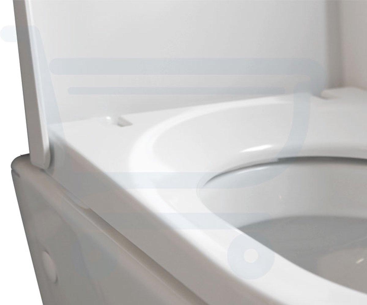 Hangend Toilet Afmetingen : Bol.com throne bathrooms sanidusa compact wandcloset diepspoel wit