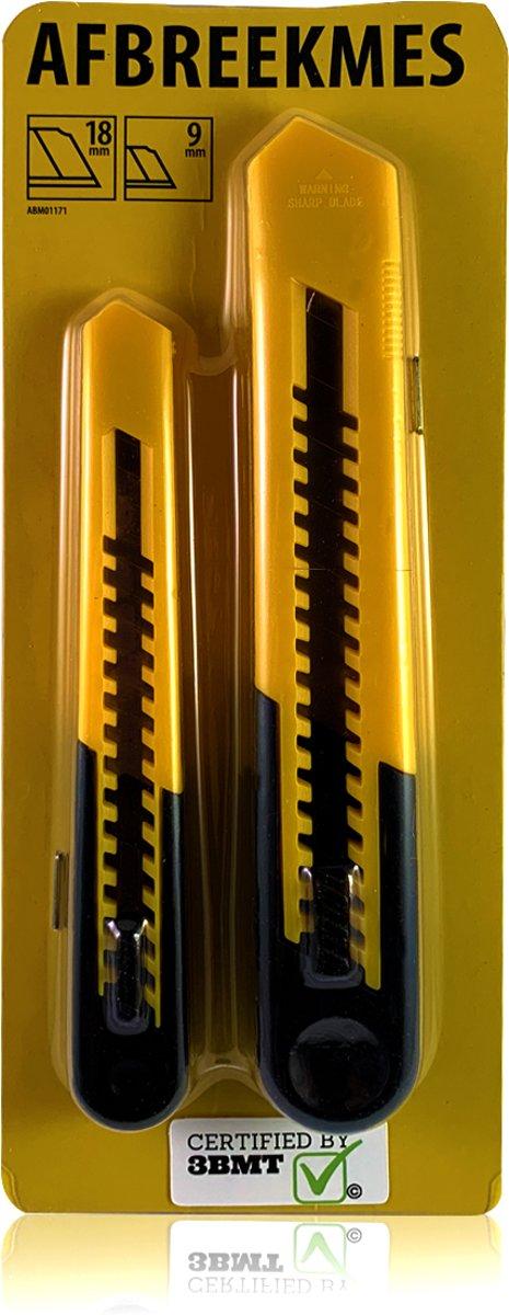 Afbreekmes | 9 mm + 18 mm | set van 2 stanley messen kopen
