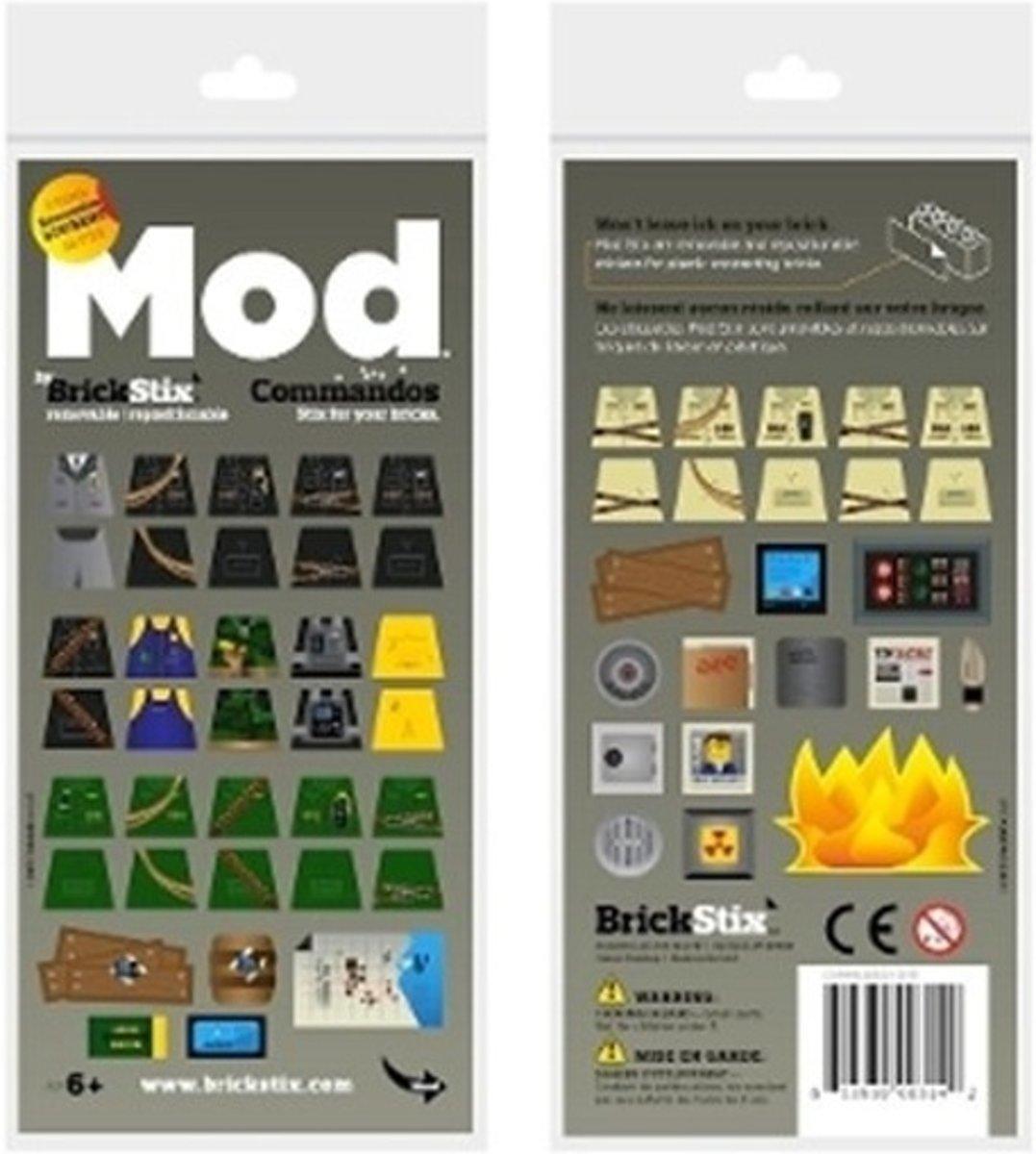BrickStix 999157 Commandos - herbruikbare stickers voor bouwstenen