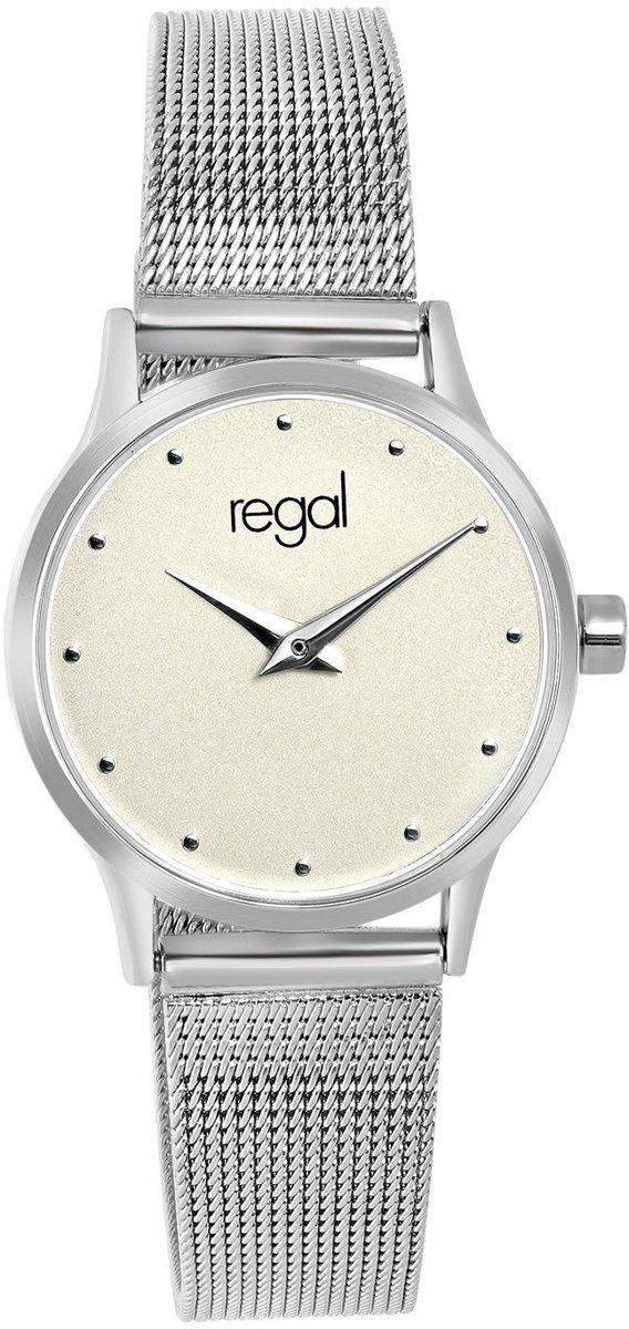 Regal - Regal horloge met een zilverkleurige kast en band kopen