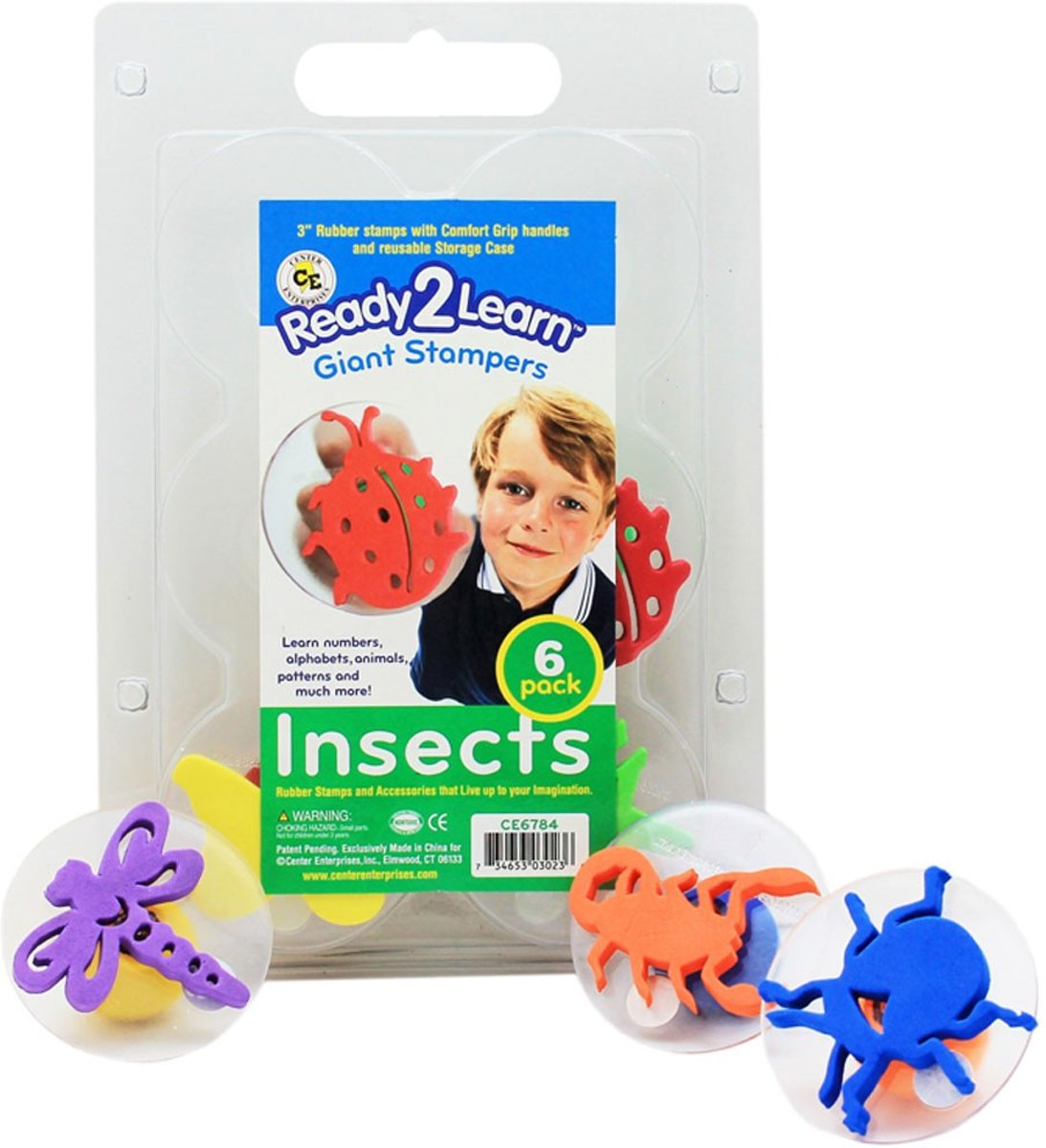 Ready2Learn - insecten stempels - 6-pack