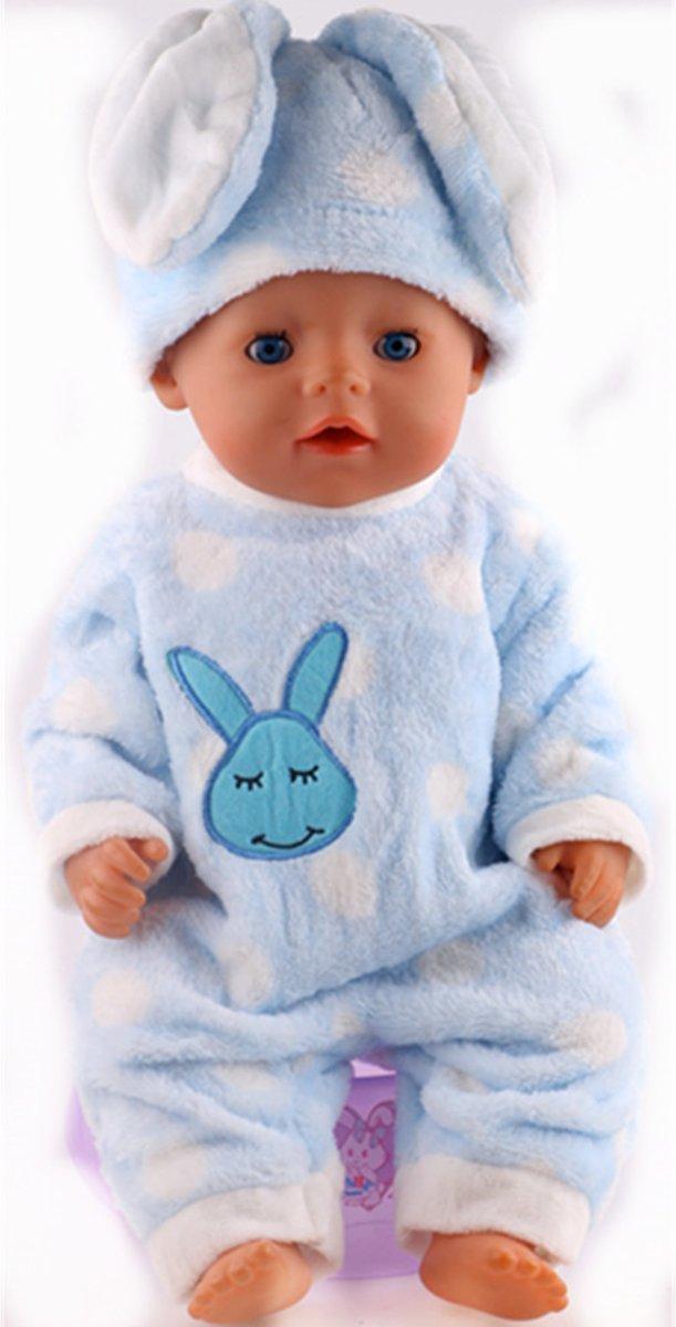 Poppenkleertjes, pyjama blauw