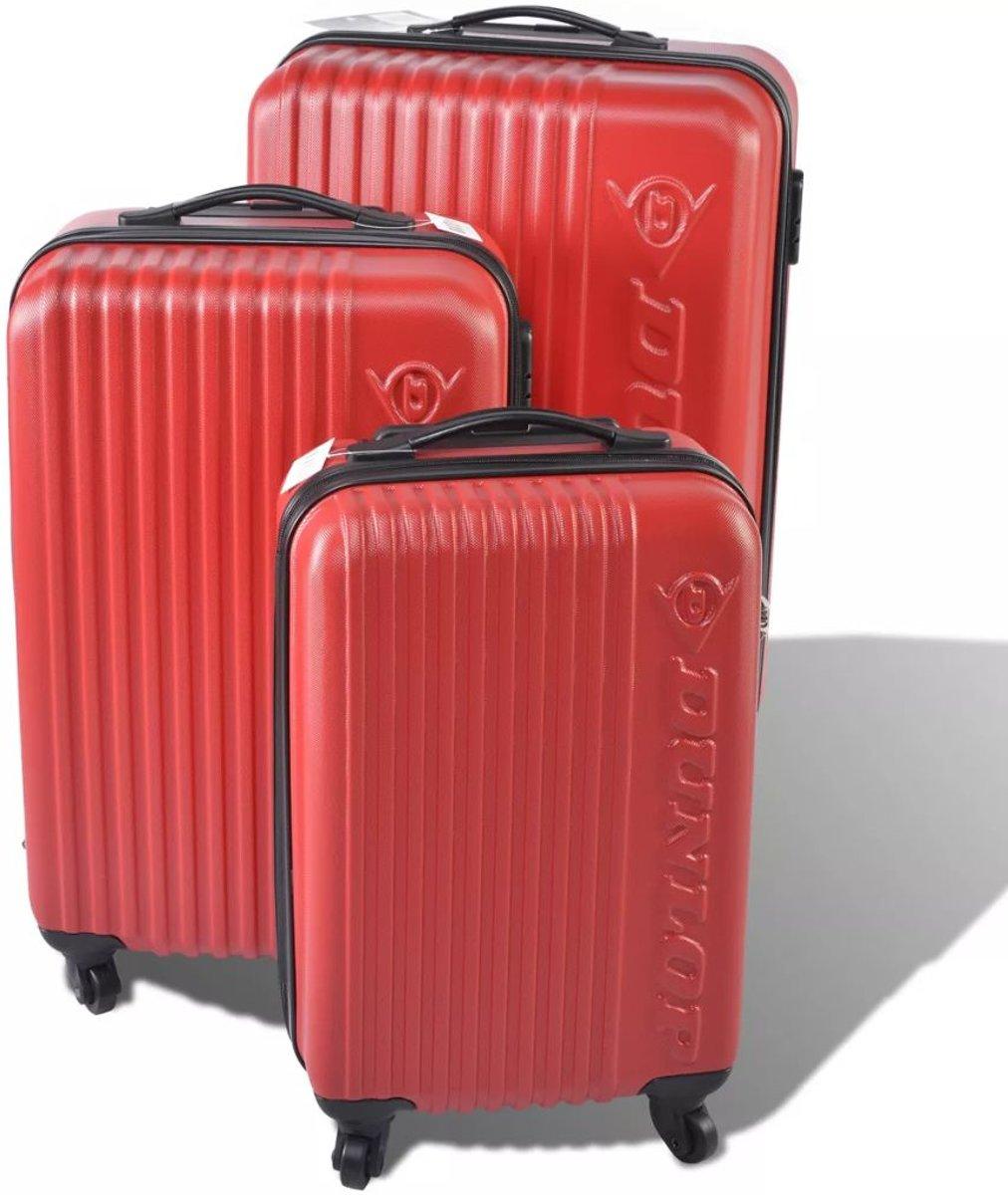 """DUNLOP Kofferset 18/22/26"""" Rood kopen"""