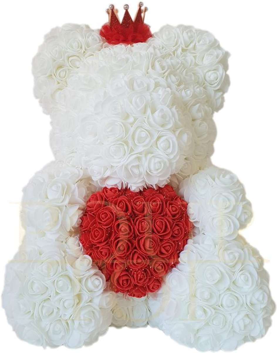 Pour Toi Teddy Wit met Rood Hartje