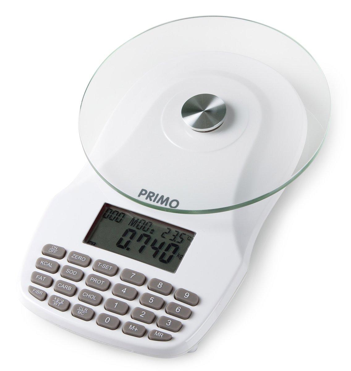 Primo Voedingsweegschaal (SCK2-W) - 7 voedingswaarden - 1g nauwkeurig