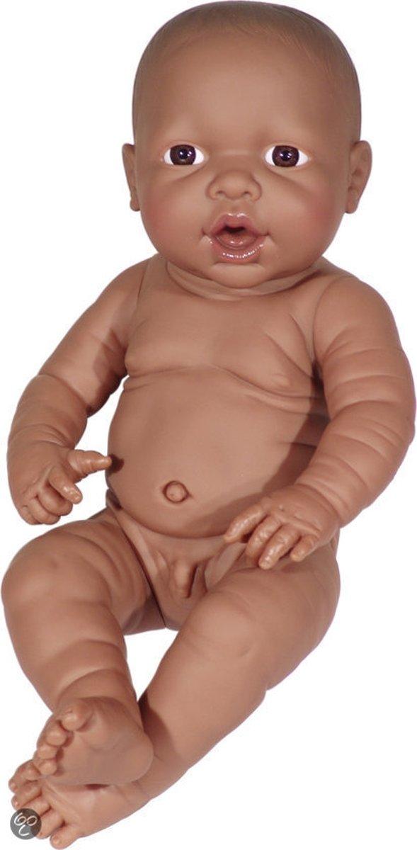 Bayer Babypop Newborn Donker - Jongen - 42 cm