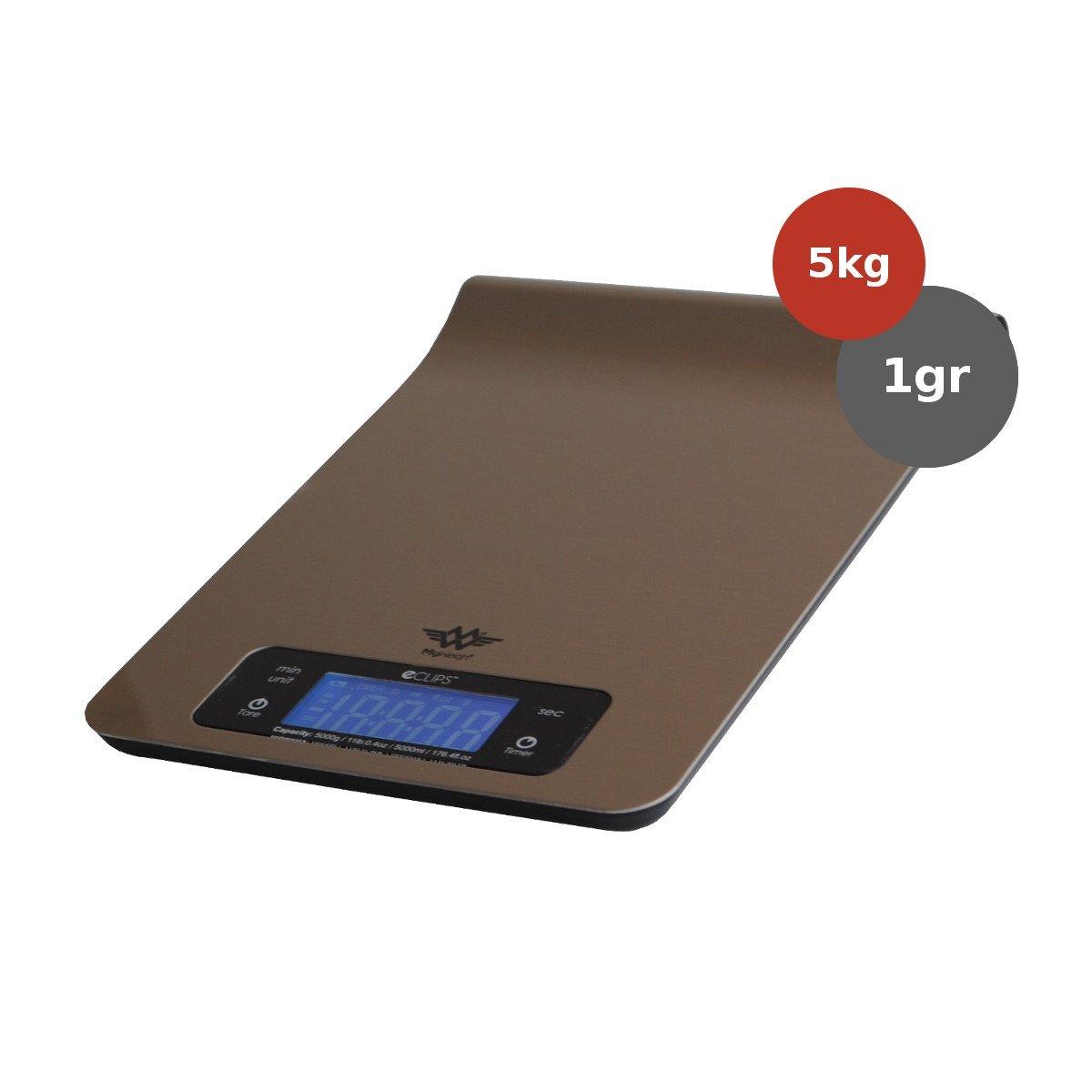 MyWeigh ECLIPSE Keukenweegschaal 5kg x 1gr