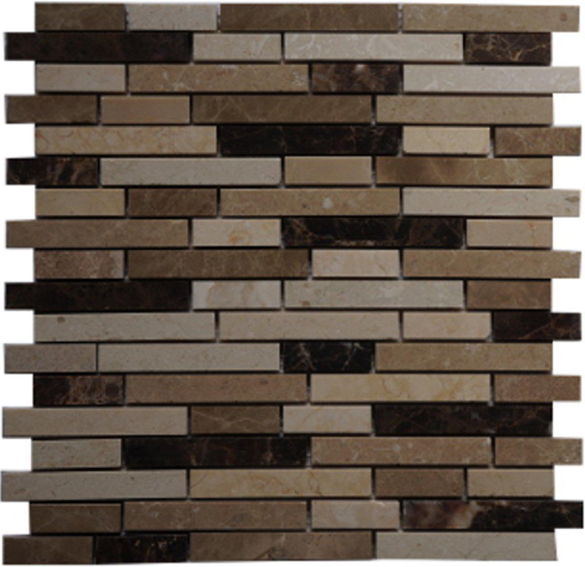 Mozaiek tegel marmer 30 x 30cm 019M kopen