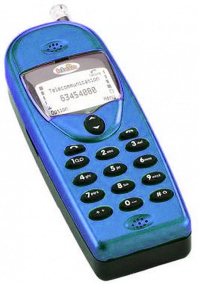 Klein Mobiele Telefoon Met Geluid 12 Cm Blauw